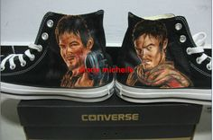 Custom Converse The Walking Dead Daryl Dixon Hand-Painted On Converse Shoes Great Gift