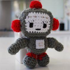 Robot Softie Crochet Toy - by LollipopsAndLove on madeit