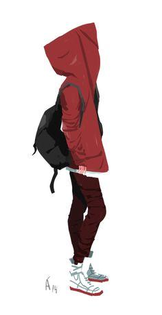 Caperucita Roja, basada en una foto de la que no encuentro los...