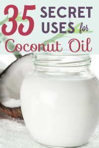 Coconut oil can be used in health and beauty products, cleaning supplies, and more! Check out these 35 secret uses for coconut oil.