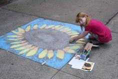 Print out a picture on the computer and let your kids try and draw it in chalk on the sidewalk and other Creative Summer Activities for Kids at Home - MyNaturalFamily.com #activities #summer