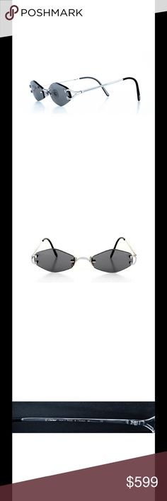 AUTHENTIC Cartier Sunglasses. Silver with grey wow Vintage in great pre- owned condition. The glasses are classy and well made. Cartier Accessories Sunglasses