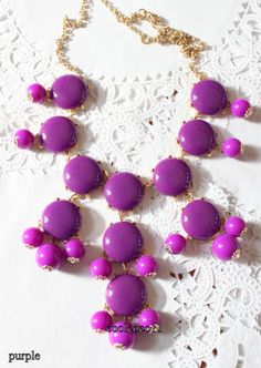 new purple bubble necklace....nice color