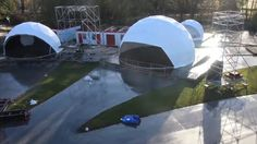 Geodomes on Vimeo Projection Mapping, Three Dimensional, Landscape, Building, Travel, Beach, Events, Concert, Buildings