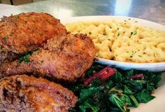 Fried Chicken, Greens, Mac & Cheese
