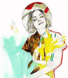 Miss Led. Fashion illustration on Artluxe Designs. #artluxedesigns
