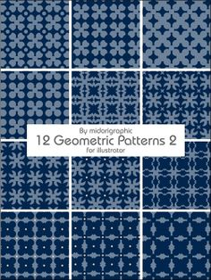 20 Awesome Sets of Geometric Patterns for Designers