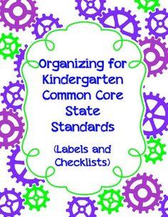 Organizing for Kindergarten Common Core State Standards La