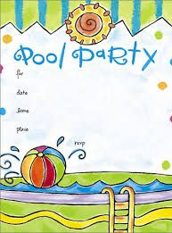 Pool party free printable party invitation template greetings resultado de imagen para pool party invitation stopboris Images