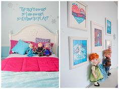 Frozen Inspired Kids Room, Frozen Inspired Kids Room - Inspired from my 3 year old daughters love for the new movie Frozen., Whimsical art p...