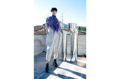 Collar Top Wool Pants