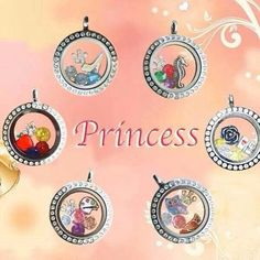 Origami Owl | Disney Princess themed lockets  lorian.origamiowl.com https://www.facebook.com/lorianslockets #origamiowl