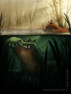 Crocodile Picture  (2d, cartoon, illustration, crocodile)