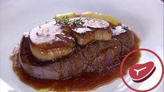 Receta de Solomillo de vaca con foie y salsa de Oporto