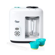 The New Tommee Tippee Explora Baby Food Steamer-Blender makes it really easy to prepare healthy meals with less mess. The machine steams to preserve nutrients. The Tommee Tippee Baby Food Blender steams fruit, vegetables and meat preserving nut Blender Recipes, Pureed Food Recipes, Baby Food Recipes, Best Baby Food Maker, Baby Food Makers, Baby Food Steamer, Mixer, Steam Recipes, Baby Weaning