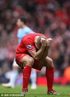 Steven Gerrard showing his passion for #football!