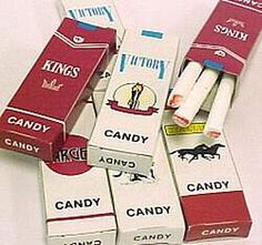old fashioned candy cigarettes. My sister and I used to think we were so cool with these :)