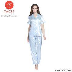 6ac0204283 Girls Sleepwear Satin Silk Ladies Pajamas Sets Women s Nightwear – Trending  Accessories Ladies Satin Pyjamas