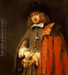Jan Six 1654 by Rembrandt Van Rijn