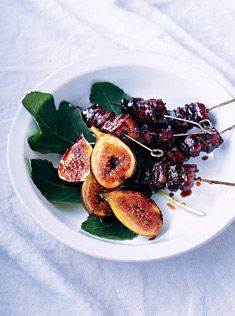 Balsamic pork belly with caramelised figs