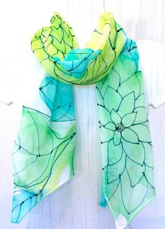 I bought one of Takuyo's beautiful scarves just recently! It's so gorgeous I want to frame it!