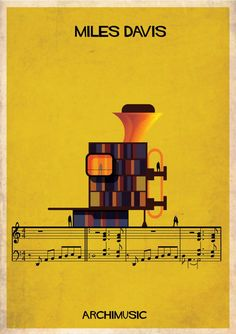"ARCHIMUSIC: Illustrations Turn Music Into Architecture by Federico Babina - Miles Davis, ""So what"""