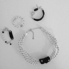 Onlychic_jewelry#handmadejewelrydesign#handmadejewelryforsale#handmadenecklace#statementjewelry#statementnecklace#ogrlica#crnobijelisvijet#fashionjewelry#cordnecklace#fashionnecklace#ropenecklace#polymerclayjewelry#polymerclaynecklace#handmadebracelet#modernist#narukvica#bracelet#polymerclaybracelet
