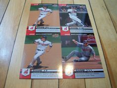 VICTOR MARTINEZ GRADY SIZEMORE 2008 UD Documentary Cleveland Indians 4 Card Lot