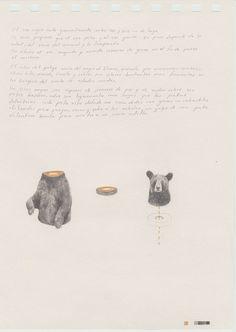 Anatomia de un oso. 14 x 21 cm 2014 Juan Dibujos / Drawings on Behance
