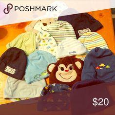 Bundle of baby hats Bundle of 16 unused baby hats. Super cute! Various brands GAP Accessories Hats