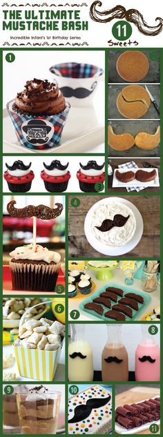11 Cakes & Sweets for The Ultimate Mustache Bash for Your Little Man's Birthday - http://www.incredibleinfant.com