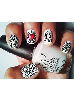 Hommage à Keith Haring http://www.brandalley.fr/Beaute/Categorie-55160-ongles