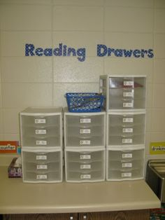 Student personal reading book drawers