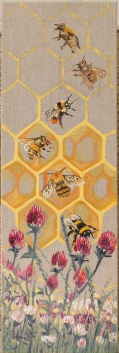 *Please note, this artwork is currently on display at My Chelsea Hotel as part of the Friends of the Earth Great British Bee Count launch until 1 September. The work will be shipped immediately aft...
