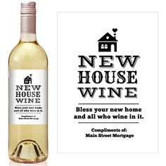 New House Mortgage Broker Wine Label - iCustomLabel