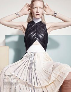 Kirsten Owen by Catherine Servel for Numéro Tokyo May 2014