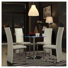 Adelphi LED Dining Table Metal/Chrome - Inspire Q : Target