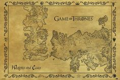 Game Of Thrones Antique Map - Poster - Merchandisehouse.nl   Shop For Fun