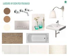 Projekt łazienka w ciepłych kolorach - 'makeover' - Łazienka, styl nowoczesny - zdjęcie od A1Studio