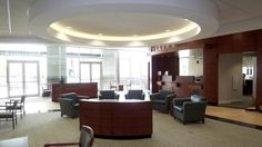 Integrity Bank (TX) Monterrey lounge seating in lobby/reception area. #NationalOffice #FurnitureWithPersonality