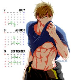 Free! ES ~~ There's a CALENDAR based on the ED!! Take my money NOW! :: Fireman Makoto