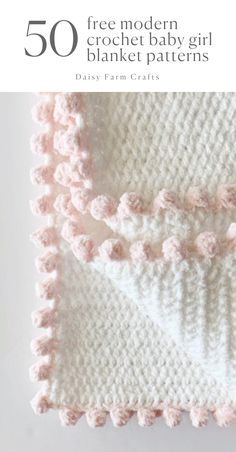 50 free modern crochet baby girl blanket patterns yarn blankies baby blanket blankies crochet free girl modern patterns yarn baby sandals free crochet pattern and video tutorial Crochet Afghans, Crochet Blanket Patterns, Baby Blanket Crochet, Baby Patterns, Knitting Patterns, Modern Patterns, Modern Crochet Blanket, Free Baby Blanket Patterns, Knitted Baby Blankets