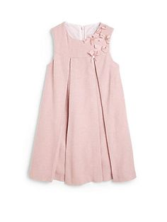 Tartine et Chocolat Toddler's & Little Girl's Pleated Bow Dress