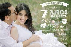 Foto personalizada Estamos casados há | Disponível na Lojinha Nossas Bodas | Aniversários de casamento