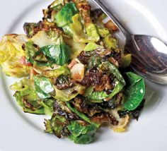 Sautéed Brussels Sprouts with Bacon Sherry Cream / splendidtable