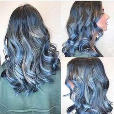 Top 100 modern hairstyles photos Just Bluetiful! Gorgeous metallic blue Balayage by Nicole. Call 516-742-4247 for an appointment #hairsaysalon #highlights #haircolor #goldwell #haircut #style #fabuloushair #glamouroushair #salon #hairstyles #fashionhair #hairstyles #braids #curlyhair #straighthair #bridalhair #shorthair #longhair #modernhairstyles #hairpainting #nyc #ombréstylist...