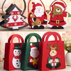 We are a gift bag manufacturers,gift bag suppliers,gift box manufacturers,gift box suppliers in china,which can custom gift bags and custom gift boxes. Christmas Gift Bags, Felt Christmas Ornaments, Christmas Goodies, Holiday Gifts, Christmas Crafts, Christmas Decorations, Inexpensive Stocking Stuffers, Custom Gift Bags, Craft Bags