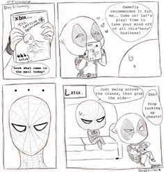 Video Games Spideypool by Baggie-chan.deviantart.com <<<<there's a Deadpool game too?! Want it badly