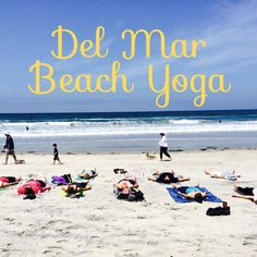 If you love Yoga and the Beach, this group is for you! Del Mar Beach Yoga is a weekly meetup for a one hour donation-based Vinyasa Flow Yoga class. We meet every Sunday from 10am-11am on the sand betw