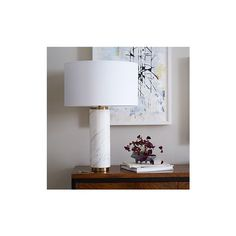 West Elm Pillar Table Lamp, Marble Base, West Elm - Desk Lamps - Task... ($229) ❤ liked on Polyvore featuring home, lighting, table lamps, west elm table lamp, midcentury lighting, midcentury lamp, marble table lamp and pillar lights